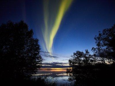 Nordlichter über dem Äkäslompolosee